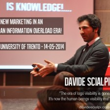 Davide Scialpi keynoting at Trento University about the Future of Marketing and the rise of Digital Economy!