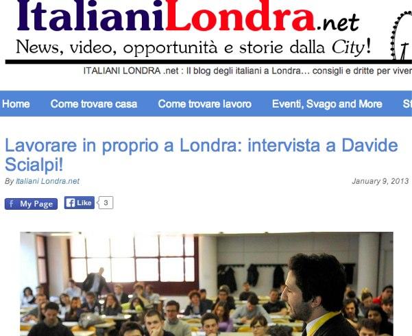 Lavorare in proprio a Londra_ intervista a Davide Scialpi!