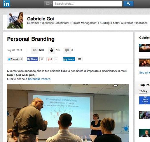 Personal Branding | Gabriele Goi | LinkedIn