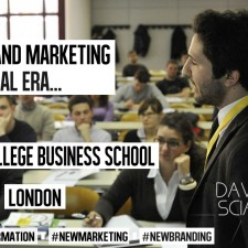 Davide Scialpi keynoting at Imperial College Business School about Global Brand Marketing in the Digital World