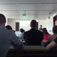 """Davide Scialpi lecturing  at Trento University on """"New Brand Marketing and Digital Transformation"""""""