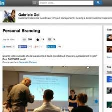 Personal Branding [Il Caso FastWeb]