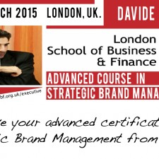 Advanced Course in Strategic Brand Management at London School of Business & Finance, 16-20 March 2015, London – UK