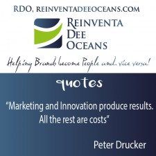 """""""Marketing and Innovation produce results. All the rest are costs"""" Peter Drucker"""
